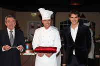 One year ago Roger Federer opened a Lindt chocolateria