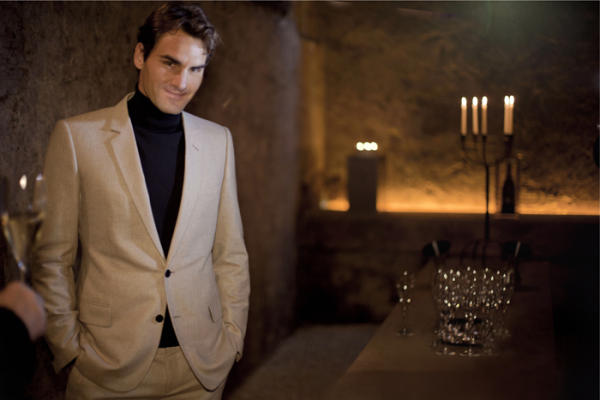 Roger Federer in the Moet  & Chandon Reserve of Grands Millesimes © Moet & Chandon