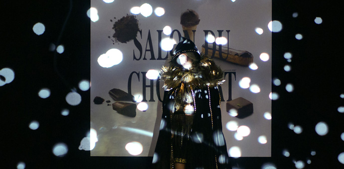 Glamour at the Salon du Chocolat fashion show in Zurich