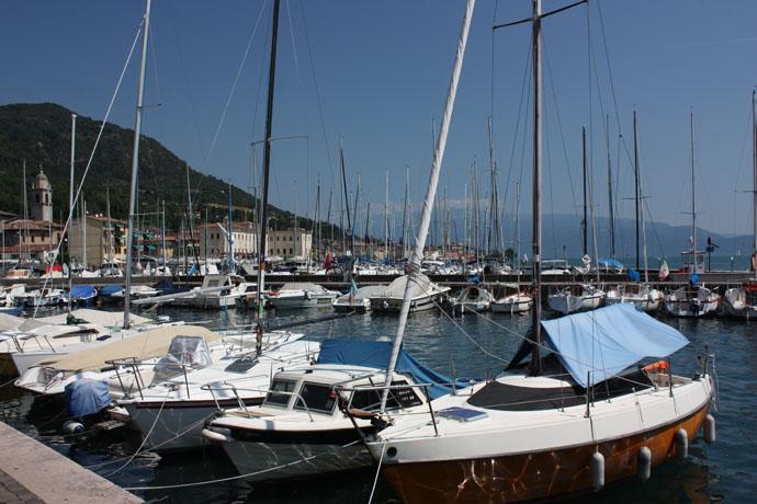 alo port on the lake of Garda, Italy