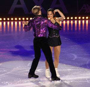 Sarah Meier and Kristoffer Berntsson at Art on Ice