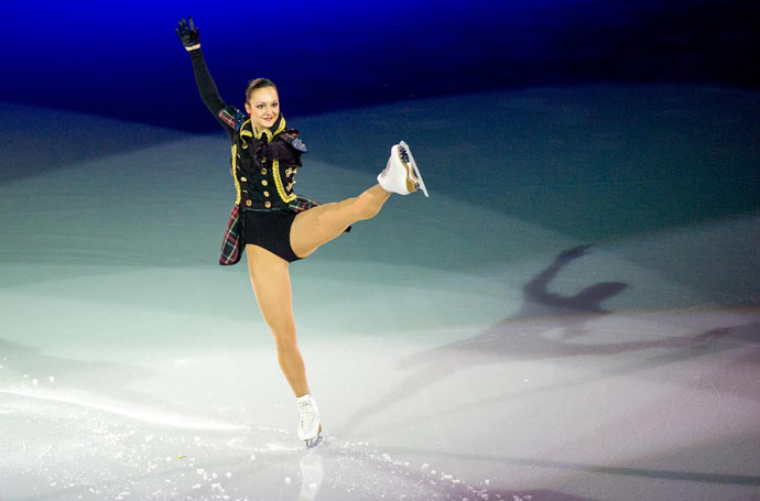 Sarah Meier at Art on Ice 2014, Switzerland - Copyright ART ON ICE