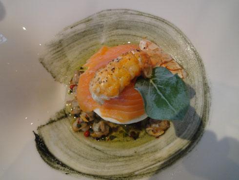 Seafood appetizer at Gourmet Restaurant Atalante, Sainte Marie de Ré, France