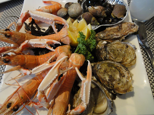 Seafood platter from Restaurant Atalante on the Island of Ré
