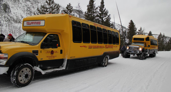 Snow coach, West Yellowstone Park
