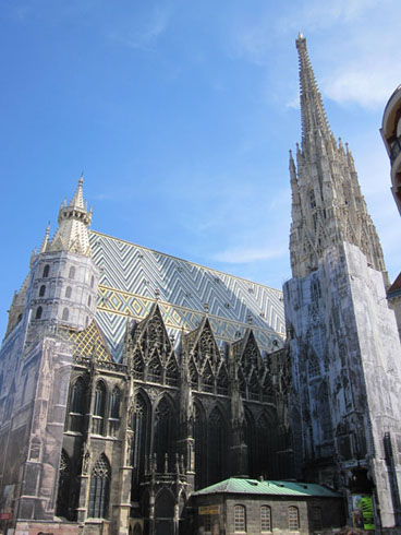 Outside view of St. Stephen's cathedral in Vienna