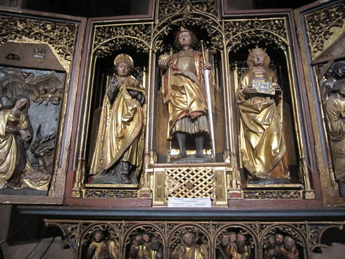 Strasbourg cathedral - St- Catherine, Nicolas and Pancrace