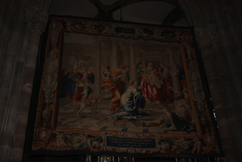 A tapestry in the Cathedral of our lady in Strasbourg