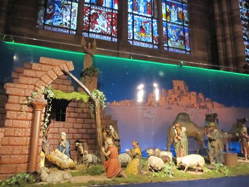 Strasbourg cathedral nativity scene