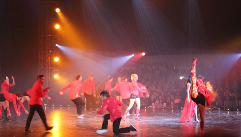 Stylize and other dancers with singer Fabienne Louves at Swiss Christmas in Zurich