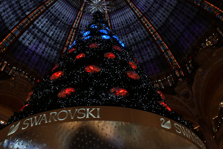 Swarovski tree in the Galeries Lafayette