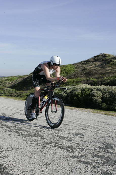 Swiss triathlon athlete Ronnie Schildknecht at the Ironman in South Africa - credit Edwin Moller