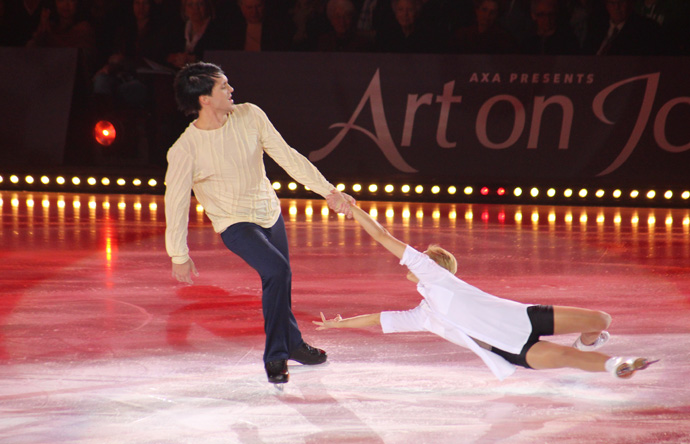 Tatiana Volosozhar and Maxim Trankhov at Art on Ice 2015 in Zurich- credit photo Veronique GRAY