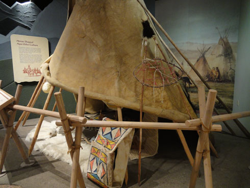 Tepee at Lewis and Clark Interpretive Center in Great Falls