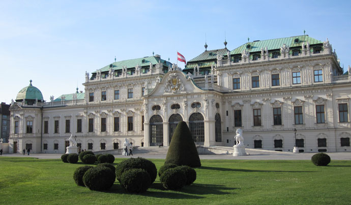 The Belvédère in Vienna at Easter time