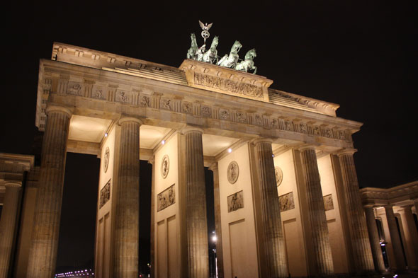 The Brandenburger Tor by night