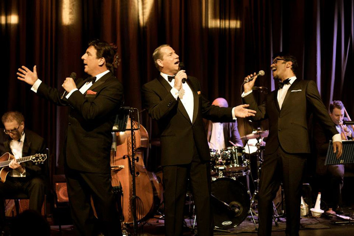 The trio of the Definitive Rat Pack - Stephen Triffitt, Mark Adams and George Daniel Long - copyright The Definitive Rat Pack