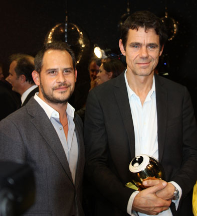 Tom Tykwer and Moritz Bleibtreu at the Zurich Film Festival