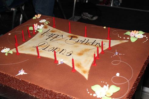 Dionne Bromfield celebrates her birthday at Art on Ice in Zurich