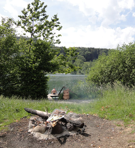 A fire on Tuerlersee