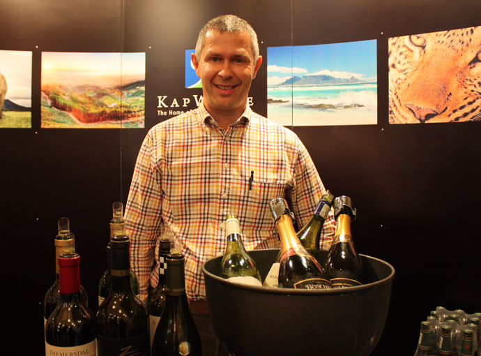 Ueli Schmidt presenting South African wines at the Gourmesse - copyright Véronique Gray