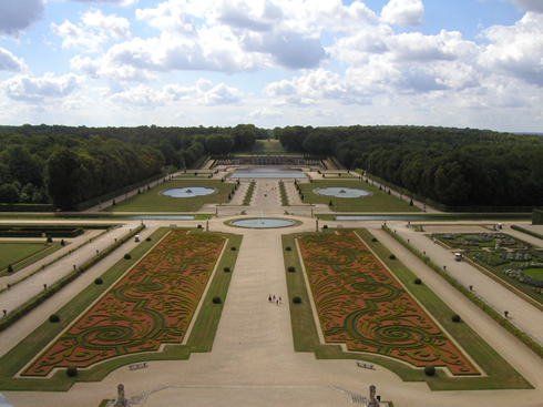 Parterres of broderie in Vaux-le-Vicomte