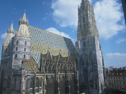 Vienna cathedral from Haas house