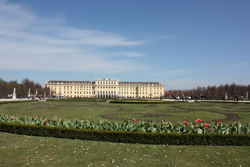 Castle and gardens of Schönbrunn in Vienna, Austria