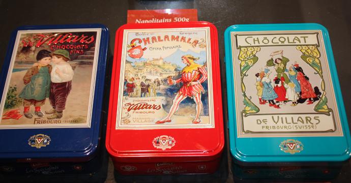 Villars chocolate collection boxes - copyright Veronique Gray