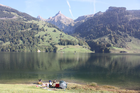 Fishing and barbecuing on Waegital lake