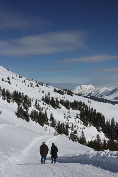 Winter walk from Niederhorn to Waldegg