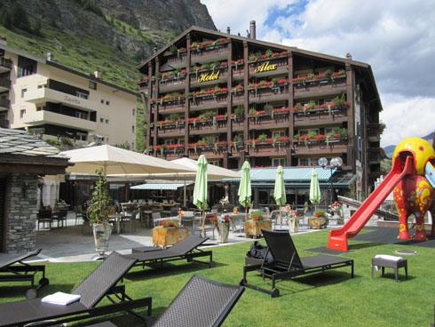 Playground at Hotel Alex in Zermatt (Wallis)