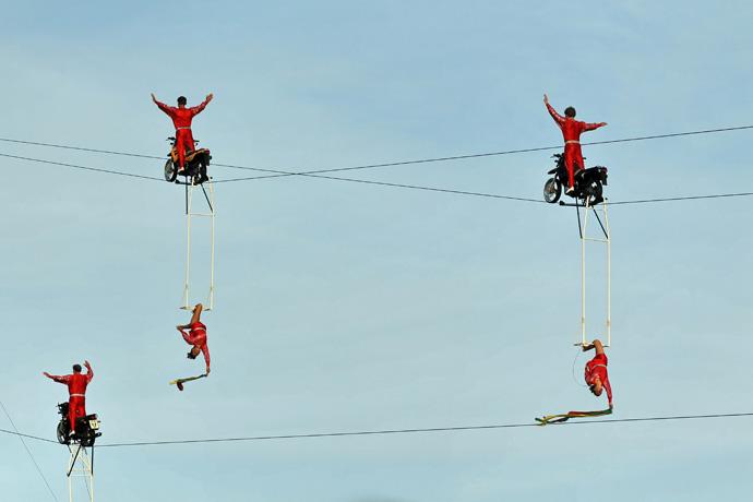Zueri Faescht Cable in the air - Photo Franz Sommer, Adliswil  Ok Zueri Faescht