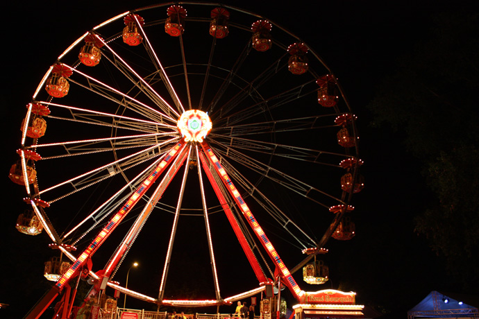 Zueri-Faescht wheel by night - Zueri Faescht 2010