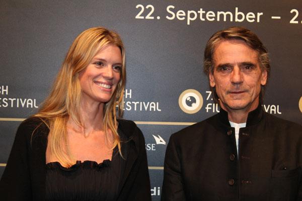 Zurich Film Festival, Jeremy Irons and Nadja Schildknecht