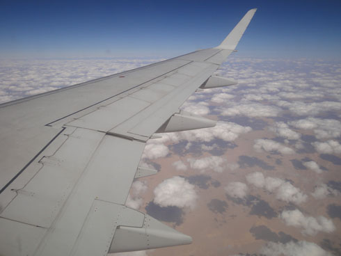In the plane from Assuan to Cairo (Egypt)