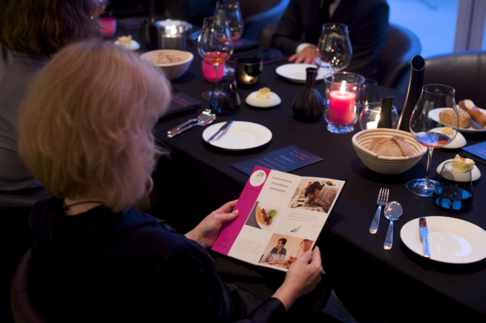 at the table during the dinner of chef Nenad Mlinarevic - copyright Moet Hennessy