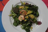 Avocado salad with shrimp (3-4 servings)