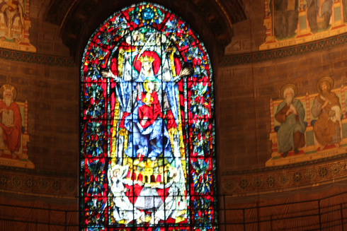 Blessing Virgin window, Strasbourg cathedral