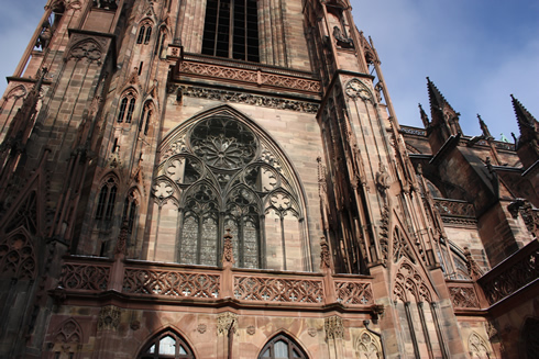 Strasbourg cathedral outside close up