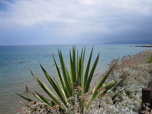 Cloudy day at the beach near Chersonissos
