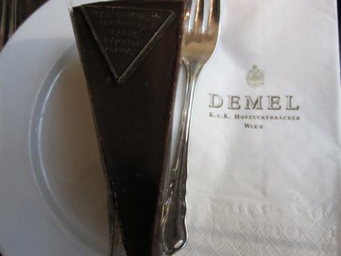 A piece of Sacher torte