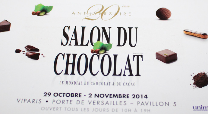 Invitation to the salon du chocolat - copyright Veronique Gray
