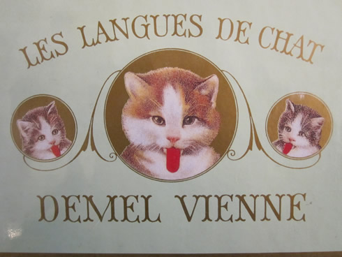 Demel cat's tongues cookies box