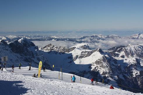 on top of Mount Titlis in Engelberg