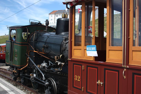 Experience a ride on an old train to Rigi/Kulm