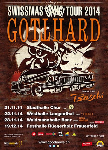 Gotthard concert poster