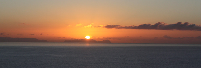 sunset from the Vidamar Resorts in Madeira - copyright Veronique Gray