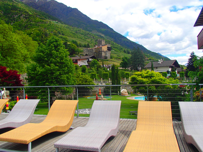 View from the Dolce Vita Hotel Lindenhof in Naturns, South Tyrol
