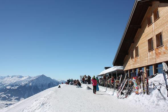 view from the Niederhorn restaurant, Beatenberg